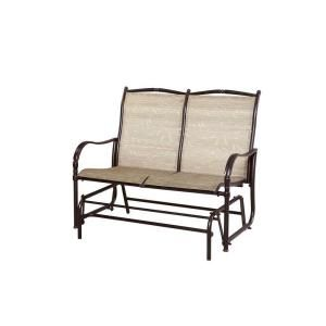 Hampton Bay Altamira Tropical Patio Bench Glider-D9976-GT at The Home Depot  $199