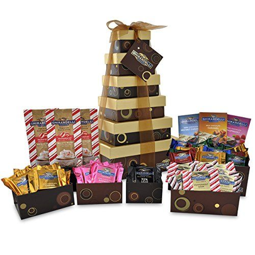 Ghirardelli 6 Tier Tower Holiday Chocolate Gift Set Brown 35.30 Ounce