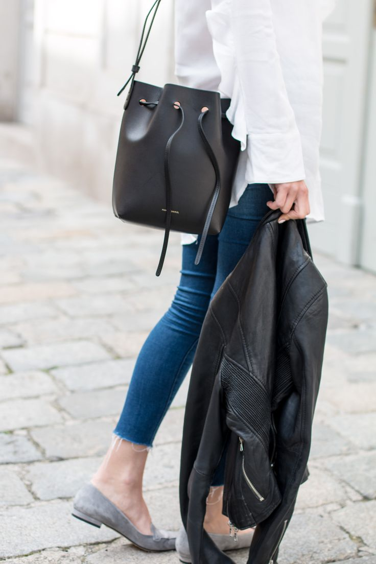 office classics - denim, white shirt, Mansur Gavriel