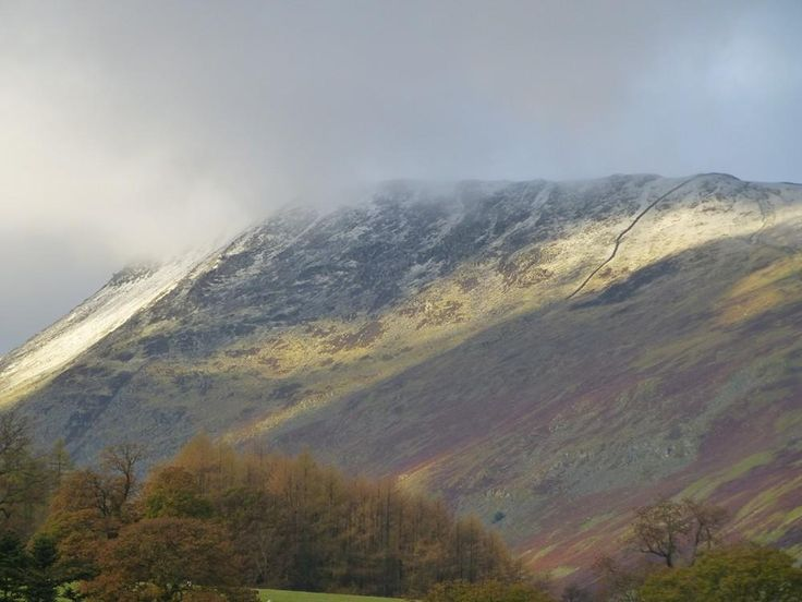 There's snow on them there hills ... Helvellyn