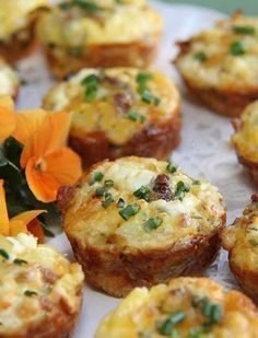 Quiche Bites are the perfect thing to serve for brunch or baby showers! This tasty recipe encompasses all your favorite breakfast foods in one bite-sized appetizer!