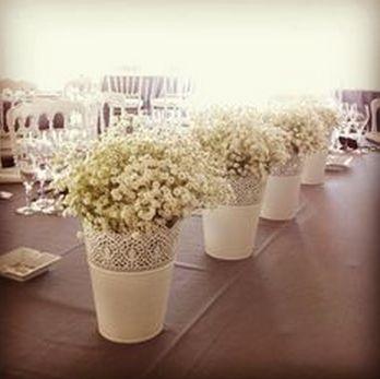 Simple aisle flowers or table decor with the SKURAR plant pot