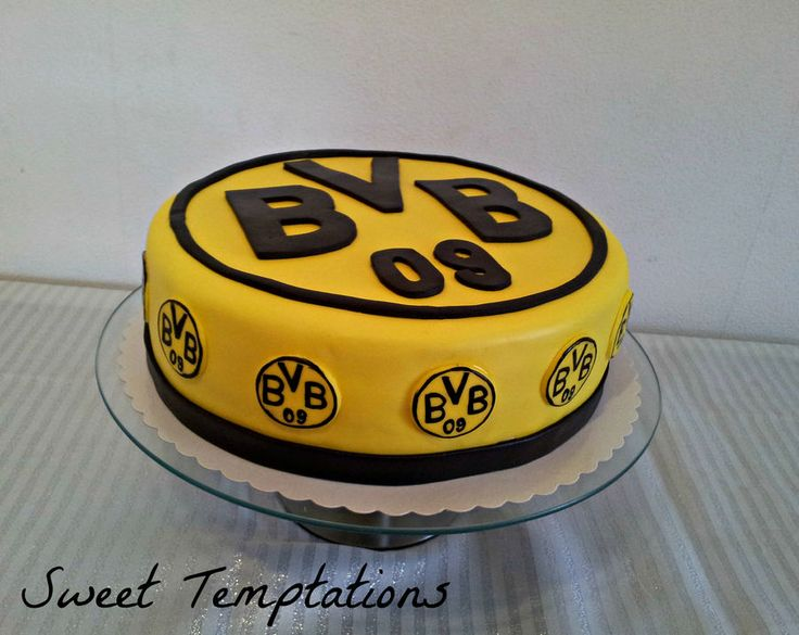 Birthday cake for a big Borussia Dortmund fan, it`s a german soccer league team!!!