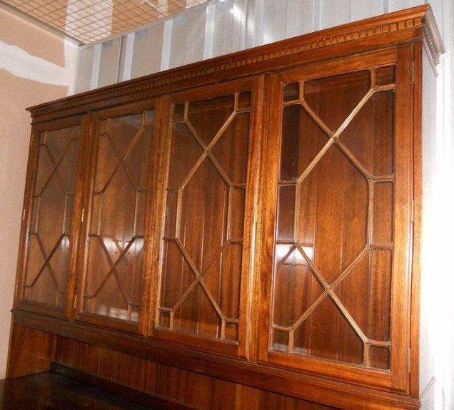 Large Solid Oak Dresser Sideboard Bookcase English Unique Design Vintage Made to Order by semelesparlour on Etsy