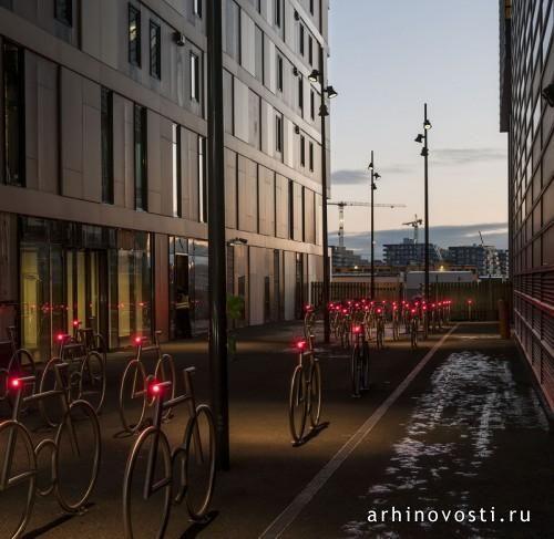 Велопарковка «MAD Bike» от MAD arkitekter. Осло, Норвегия.