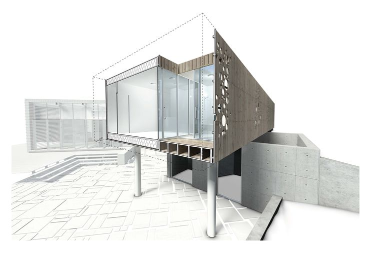 Luzira House Sliced-Away 3D View Building Type