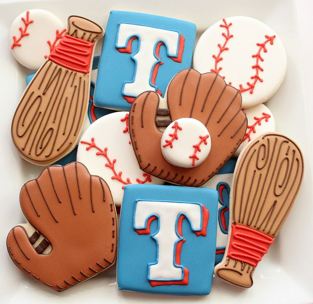 Texas Rangers Baseball Cookies | Flickr - Photo Sharing!