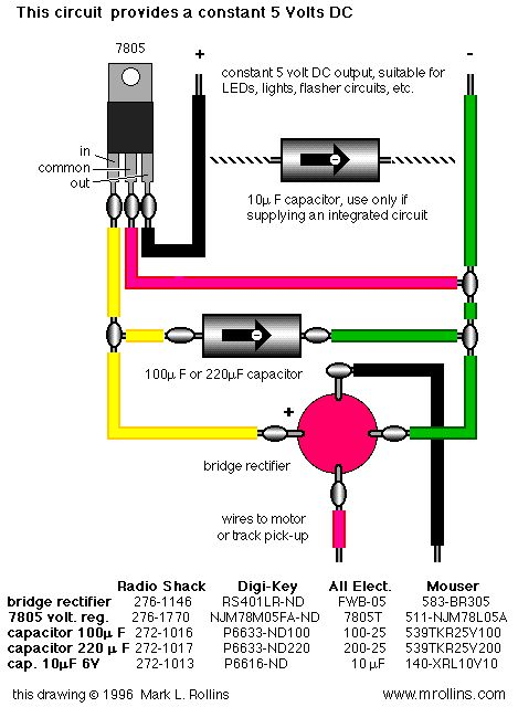 Model Railroad 5v Power Supply
