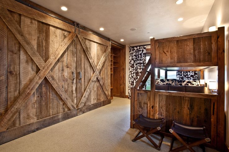 Bunk Bed With Barn Doors Marian Rockwood Design Home