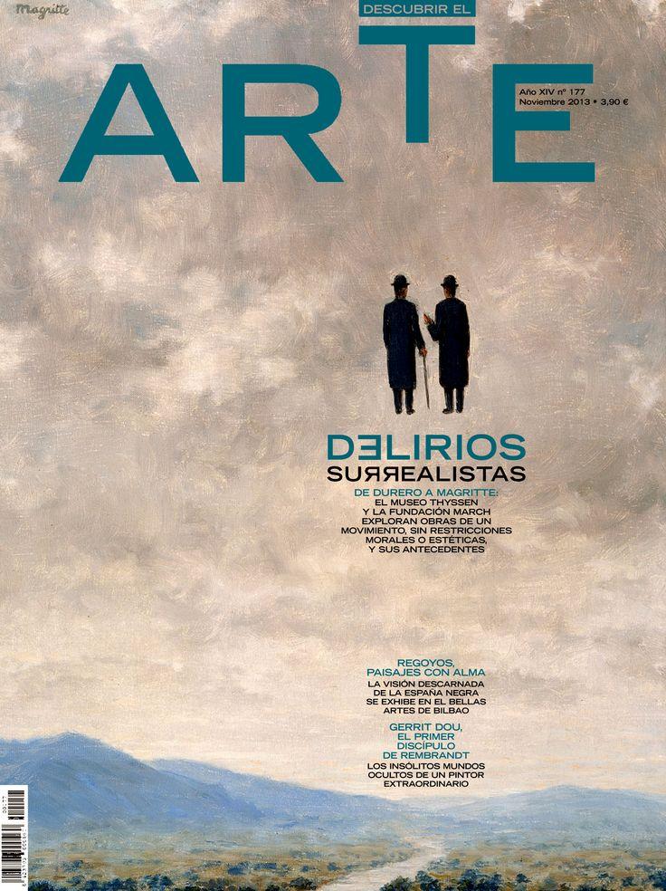 """UNA PORTADA SURREALISTA. Revista Descubrir el ARTE. (""""El arte de la conversación"""" de René Magritte, 1963)"""
