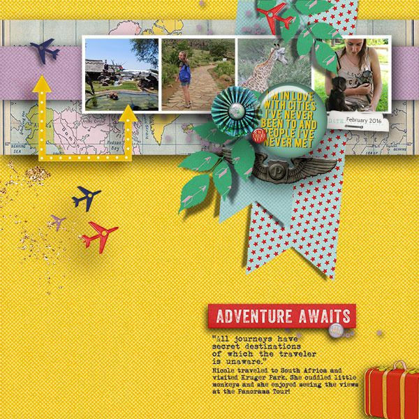 PASSPORT TO THE WORLD V.2 Page Drafts for digital scrapbooking by The Nifty Pixel