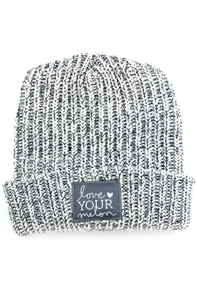 Navy Speckled Cuffed Hat - Love Your Melon || Fifty Percent (50%) of net proceeds from the sale of this product will be donated equally to CureSearch for Children's Cancer and the Pinky Swear Foundation to fund cancer research initiatives and provide immediate support for families. Made in the USA