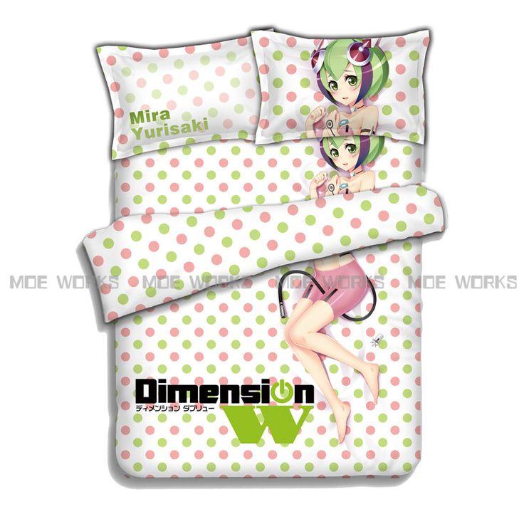 Dimension W Mira Yurizaki 3d New Design Manga Bedding Set Bedsheets Anime Bedcover