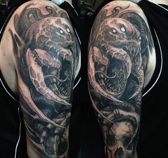 Top 87 Demon Tattoo Ideas 2020 Inspiration Guide Demon Tattoo Satanic Tattoos Tattoo Designs Men