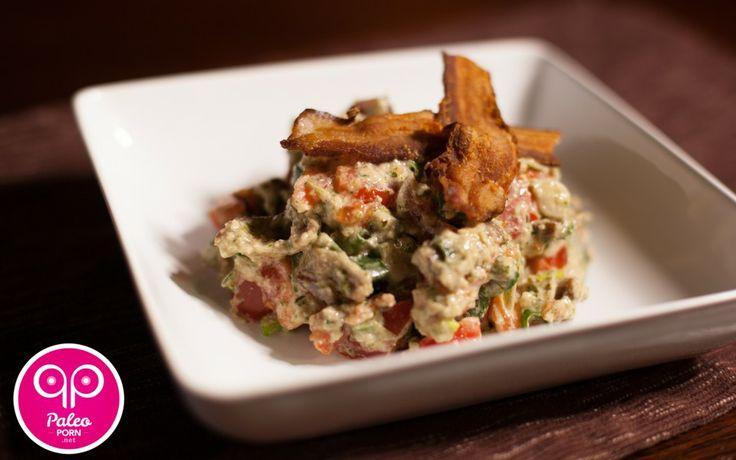 Paleo Bacon Lettuce and Pesto Salad...substitute basil for cilantro