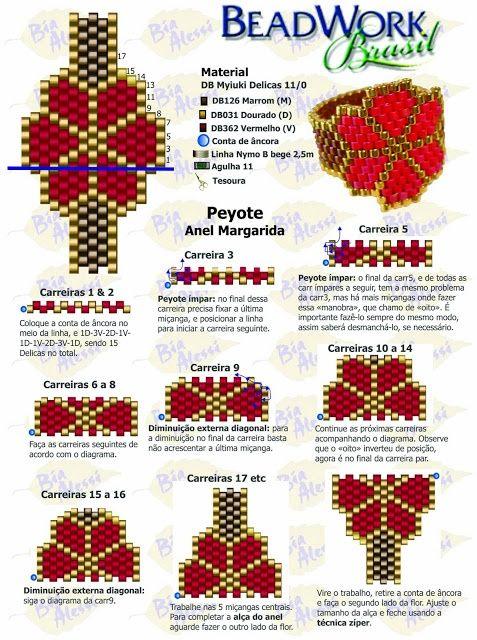 Схемы колечек из бисера..  Украшения из бисера хэндмейд различной сложности и стиля исполнения своими руками.