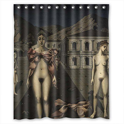 NASAZONE Bathroom Curtains Width X Height / 60 X 72 Inches / W H 150 By 180 Cm(fabric) Nice Choice For Wife Father Wife Family Kids Boys. Rust Proof Art Painting Paul Delvaux - The Pink * Want to know more, click on the image.