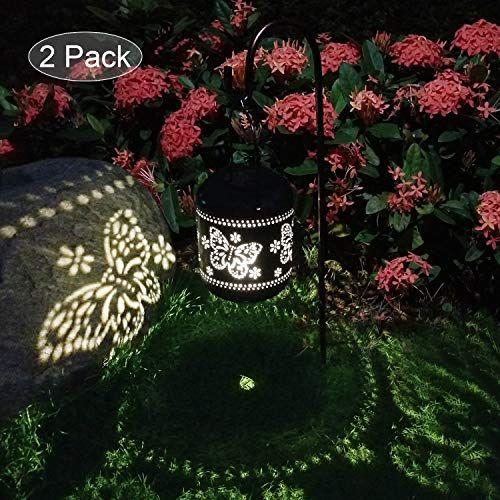 2 Pack Lanterne Solaire Jardin Decoration Exterieur Etanche