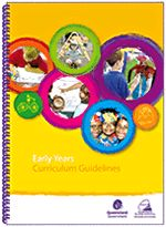 The Early Years Curriculum Guidelines (EYCG) provide teachers with a framework for interacting with children, and planning, assessing and reflecting on an effective Preparatory Year curriculum.  The guidelines are based on active learning for children through real-life situations, investigation and play. They incorporate descriptions of 4 early learning and development phases to help teachers to monitor children's progress and preparedness for Year 1.
