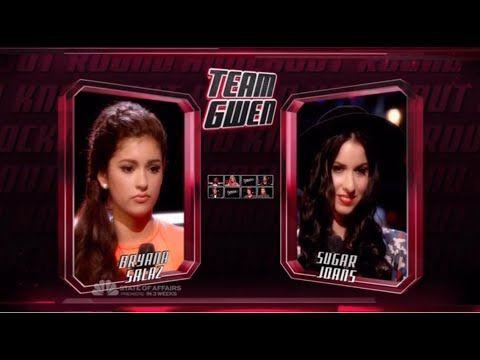 Bryana Salaz vs Sugar Joans  - The Voice Knockout Round 2014