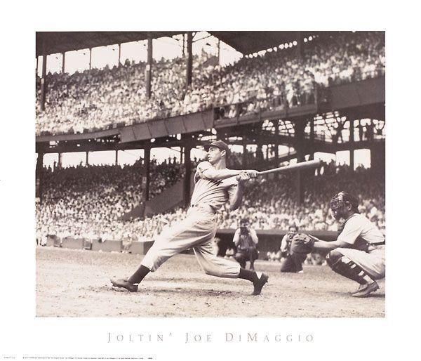 """""""Joltin' Joe DiMaggio"""" - Baseball posters and prints available at Barewalls.com"""