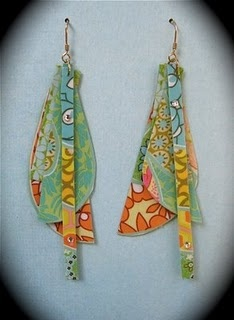 Upcycled Paper earrings :)