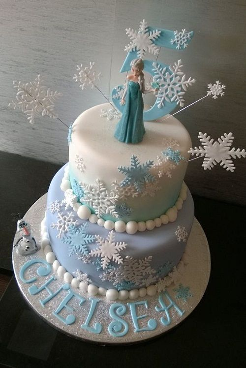 21 Disney Frozen Birthday Cake Ideas And Images Olaf Elsa And
