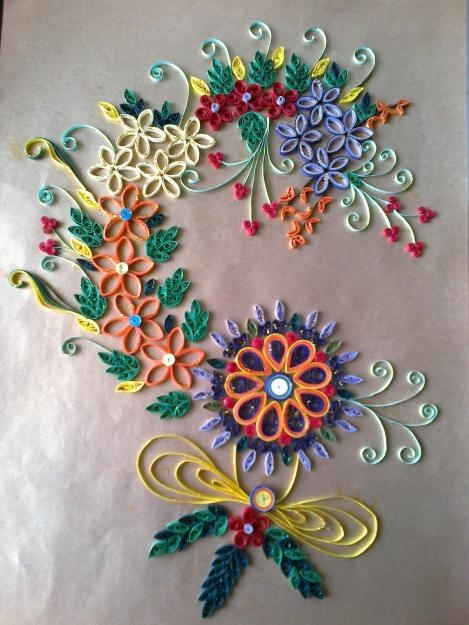 Wall Hanging Handmade With Paper Quilling Kalighat