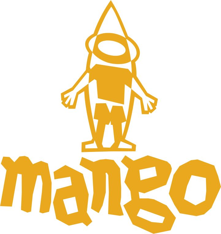Mango, 1990 by Roger Mafra - Revista Fluir 1990 logo
