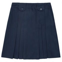 Front Pleated Skirt with Tabs Juniors - French Toast School Uniforms