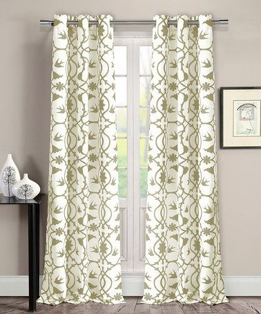 Loving this Wheat Dawn Victoria Curtains - Set of Two on #zulily! #zulilyfinds