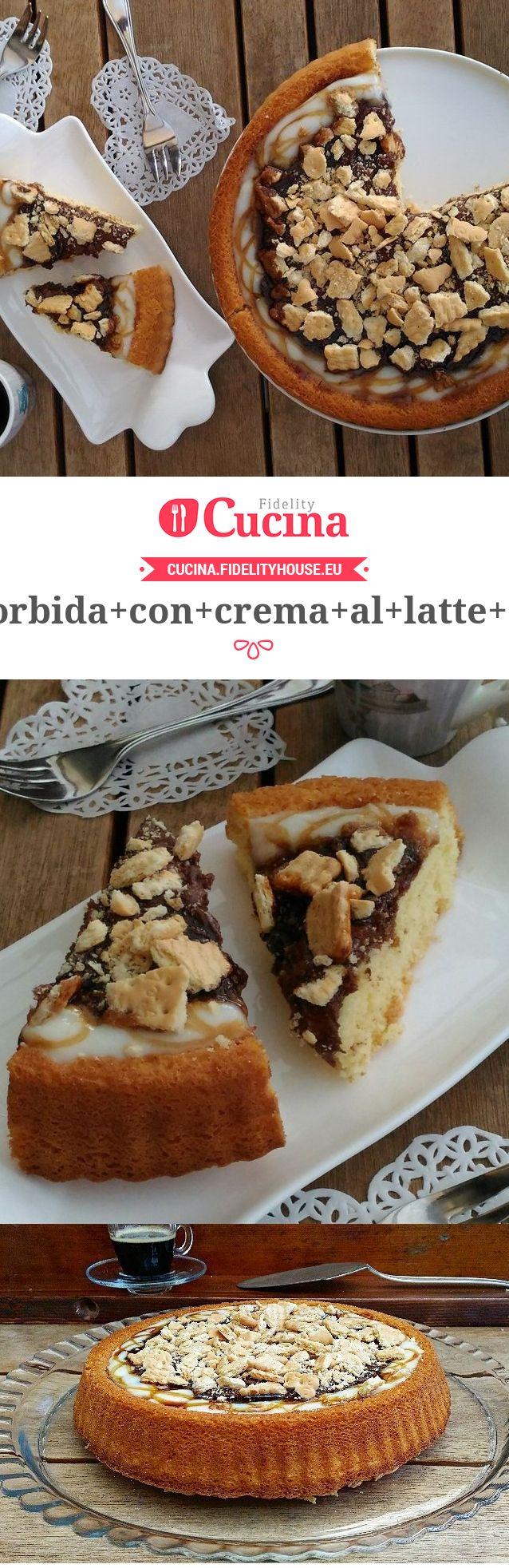 Crostata morbida con crema al latte e caramello