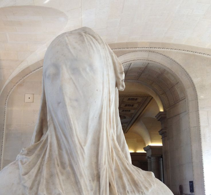 Antonio Corradini. Femme voilée (la Foi?)   This was taken in Paris. Astonishing to see in person.