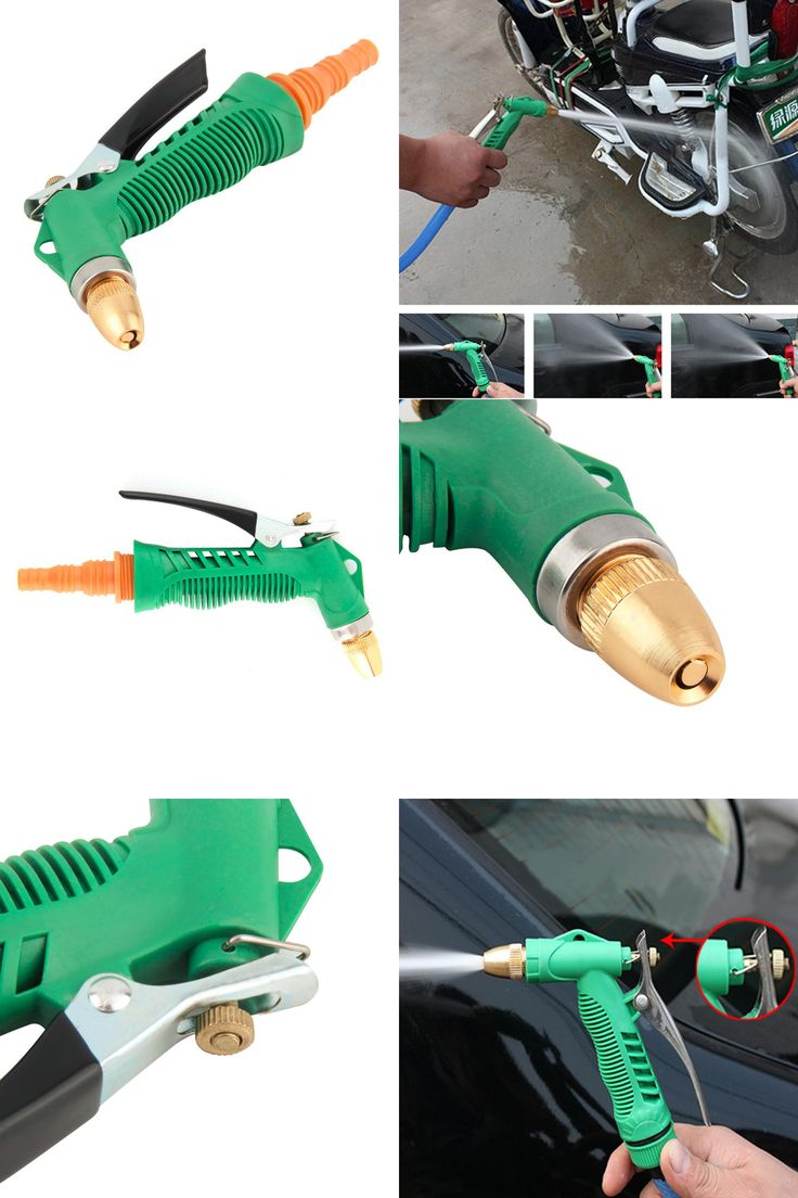 [Visit to Buy] 2017 New! Copper Adjustable High Pressure Car Washing Water Gun Head Garden Household Washing Cleaning Machine Tool Accessories #Advertisement