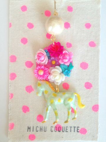 "Michu coquette ""dot ponyのピアス"""