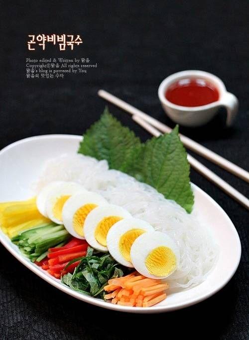 매콤달콤 맛있는 저칼로리 다이어트 음식, 곤약비빔국수!! – 레시피 | Daum 요리