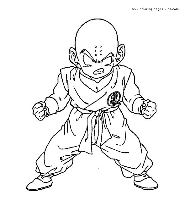 Krillin Dragonball ZColouring Pages