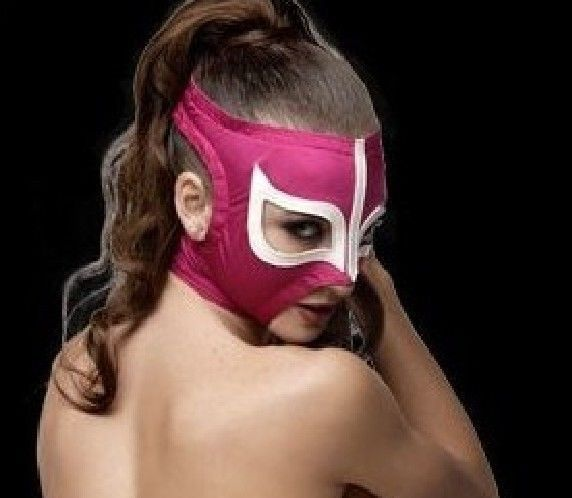 LADIES SEXY PINK WOMEN Adult Mask Mexican Wrestling Mask Lucha Libre Luchador Co