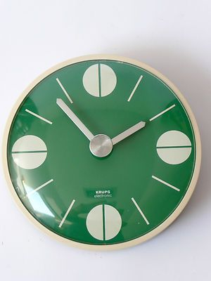Original 1970s Krups Wall Clock Eames Panton Space Age 60s Era