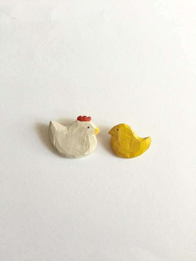 クスノキの おやこブローチ  - 木雲 mocumo