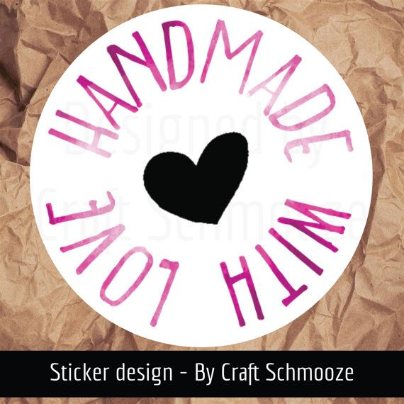 Check out Handmade with love - Pink watercolour labels on craftschmooze