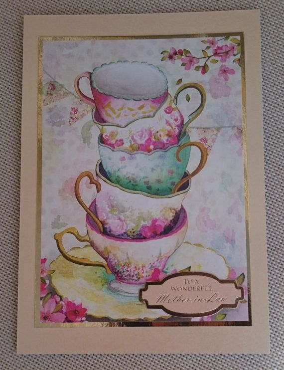 Handmade 5 x 7 Greeting Card  Mother-in-Law by BavsCrafts on Etsy