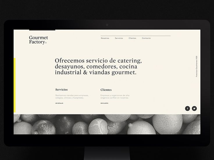 Gourmet Factory website by Asís.