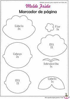 Resultado de imagen para llavero de frida kahlo moldes