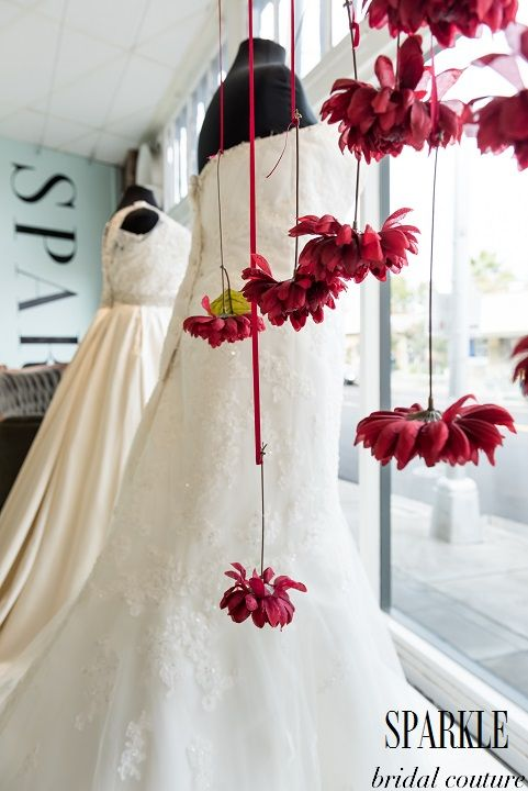 Marsala flowers dance around our elegant SPARKLE gowns and add a nice pop of the color of the year. http://www.gigimallattevents.com/ @gigimallatt #gigimallattevents http://www.leilanipaular.com/ @lalalena #leilanipaularphotography