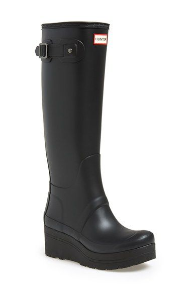 Free shipping and returns on Hunter 'Original Tall- Wedge' Rain Boot (Women) at Nordstrom.com. A classic Hunter rain boot takes a chic, feminine turn with a retro-inspired platform wedge, while the front-and-center logo maintains signature style.