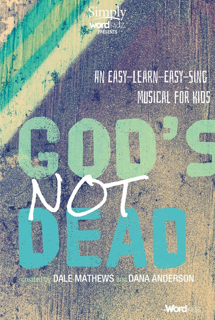 """Through an accessible and timely story that answers tough questions like """"If God is real, why do bad things happen to people?"""", this new musical is anchored by songs that are full of faith-reinforcing lyrics. Together, they give you the potential for life-changing ministry through your presentation of God's Not Dead, from Simply WordKidz!"""