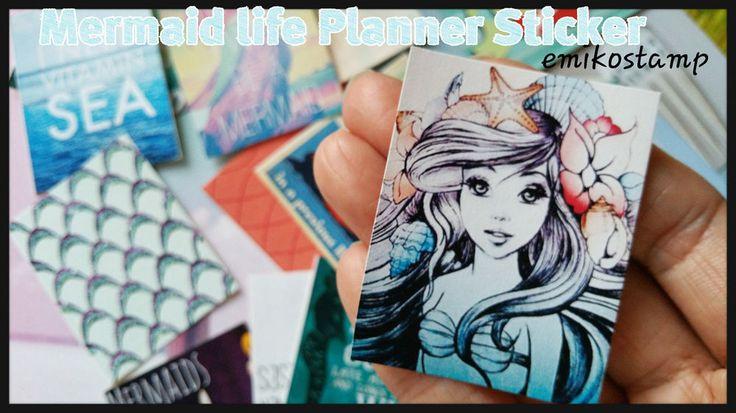 24 Mermaid sticker planner,Kawaii sticker,Mermaid life Scrapbook sticker