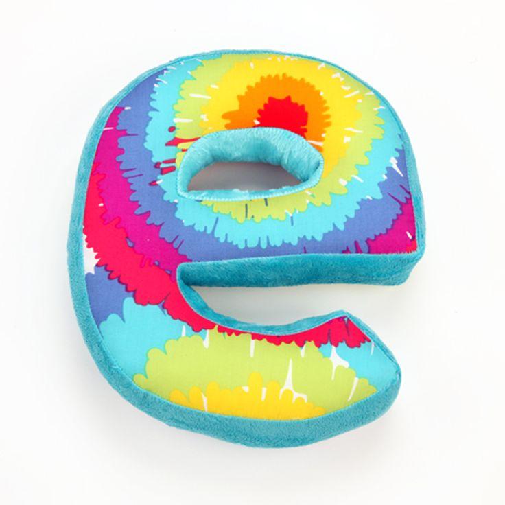Terrific Tie Dye Letter Pillow E Terrific Tie Dye