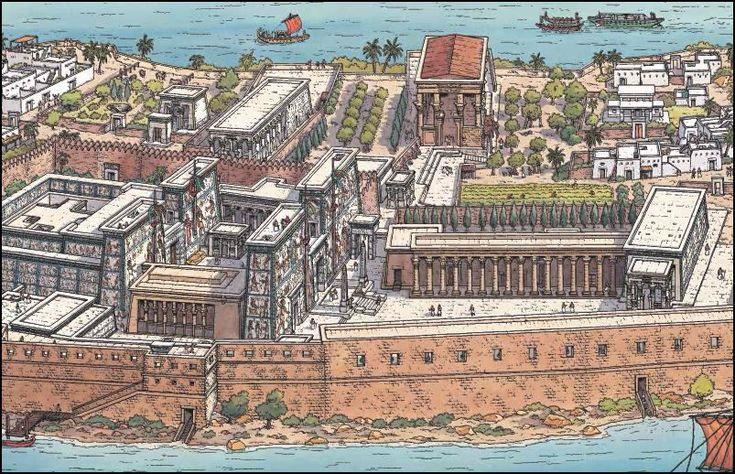 Rafaël Moralès : dessin pour L'Egypte au fil du Nil, Les Voyages d'Alix.